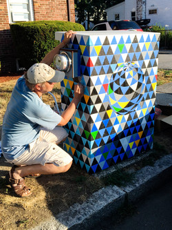 Painting transformer box