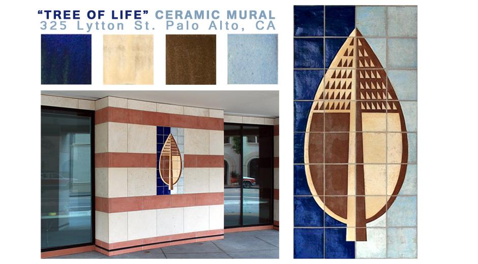 """Ceramic Mural """"Tree of Life"""""""