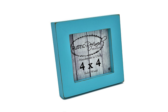 """4x4 1"""" Gallery Picture Frame - Turquoise"""