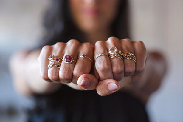 Giulia Tourmaline  Brown Diamonds Rings.