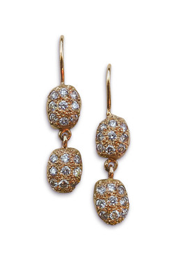 Qirat double earrings diamonds