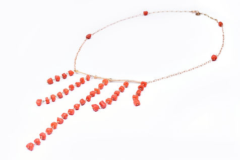 Coral twigs red coral rose gold necklace.jpg