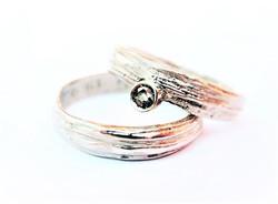 Vanilla silver bands iolite