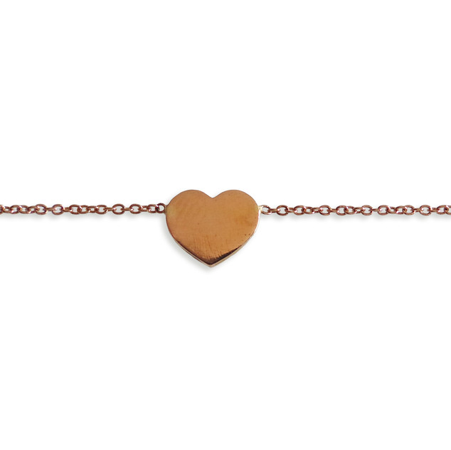 Peace Love Jewelry Rose Gold Necklace.jp