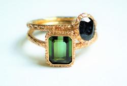 giulia rings rose gold diamond sapphire