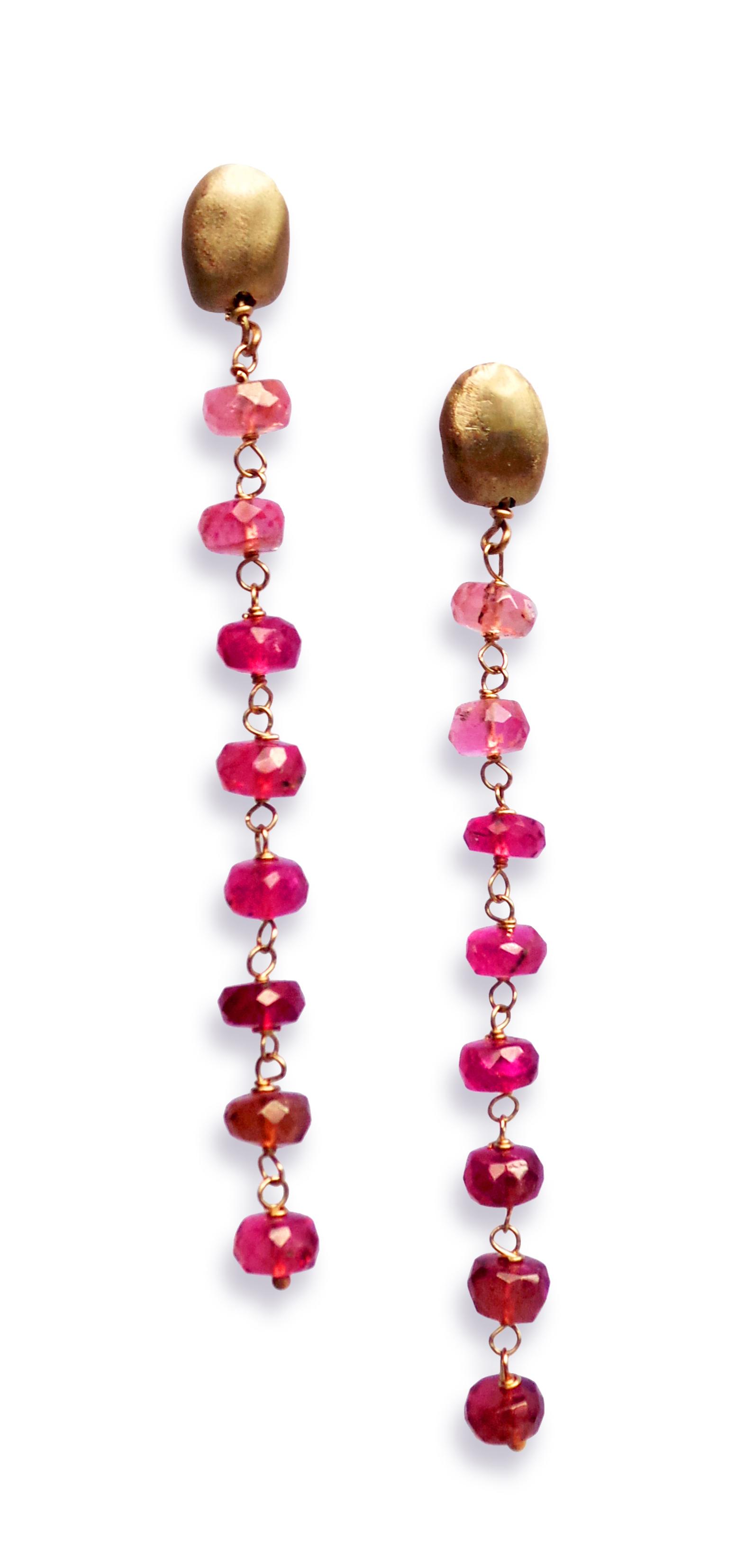 Carrob seeds earrings white gold rubelli