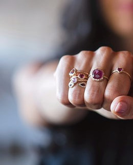 Giulia Rose Gold Pink Tourmaline Rings.j