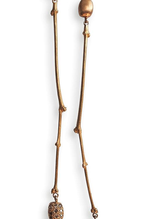 Qirat rose gold 18kt long earrings