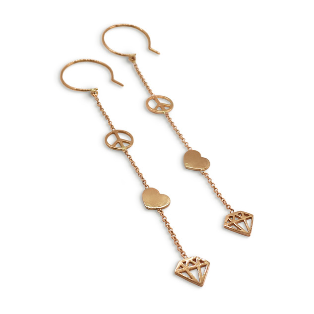 Peace Love Jewelry Rose Gold Earrings.jp