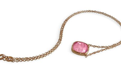 Giulia rose gold Rubellite Tourmaline necklace