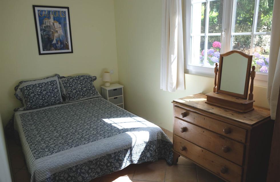 bedroom and garden