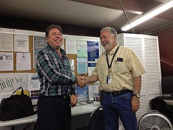 Mike congratulating Bill on Solo
