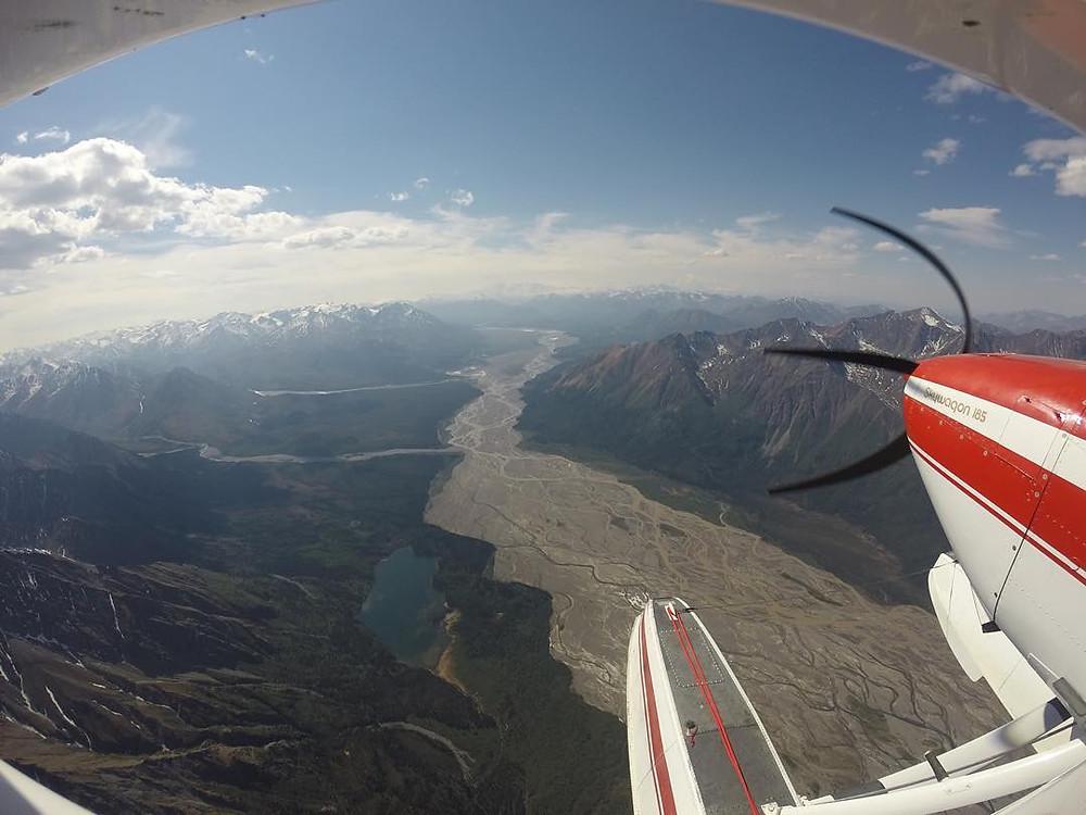 Forrest Carpenter flying in the Wrangell's