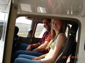 New Pilot Elsie with instructor Will Alsum