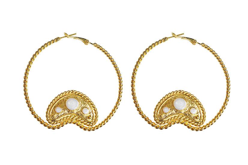 Heather Hoops Earring