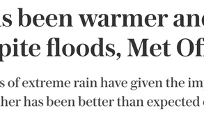 """""""Summer has been warmer and drier than normal"""", misleading or truthful?"""