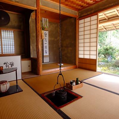 京都大原実光院  茶室修繕