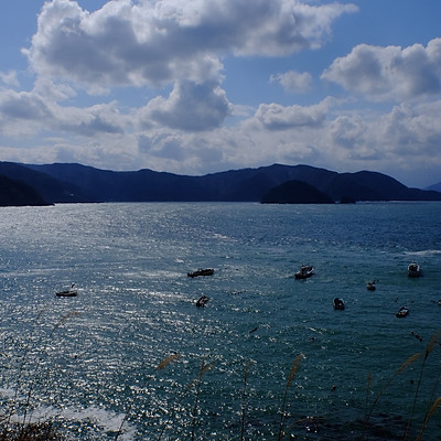 坂の途中の海の家  福井県若狭町