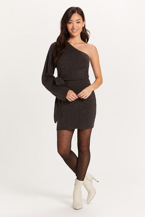 Falling for me sweater tie dress