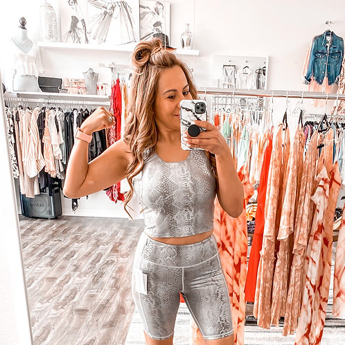 You Active Foil Scale Sports bra
