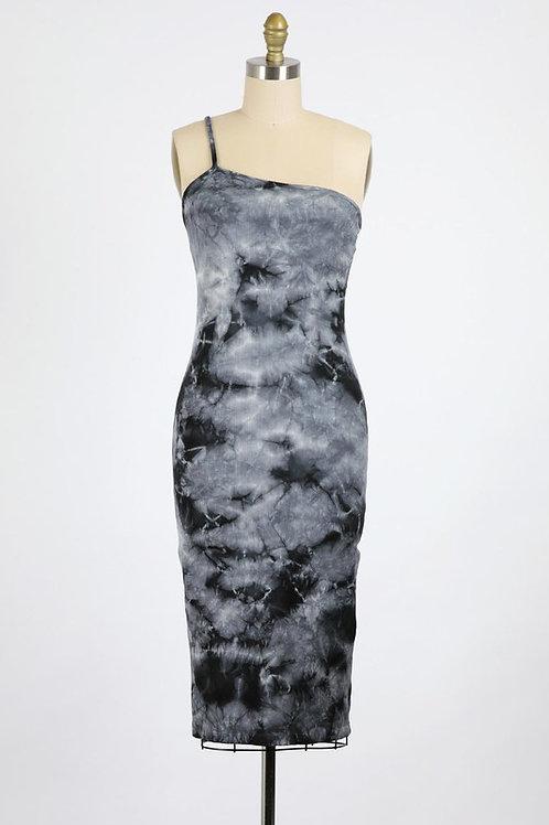 Mineral Go Figure one shoulder dress