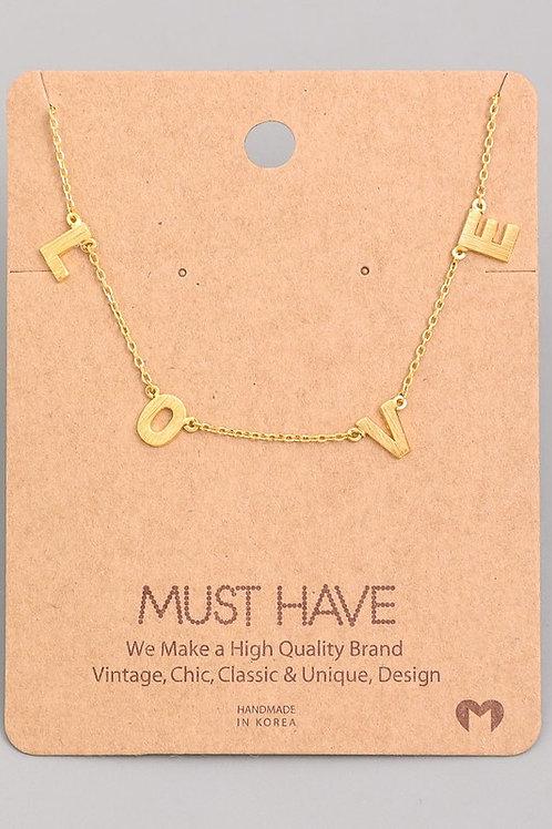 L-O-V-E 18k dipped necklace