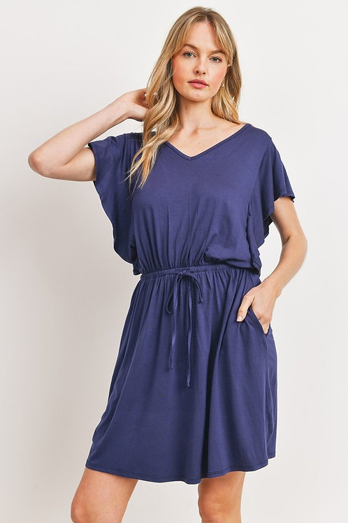 Happy Times Navy Blue Dress