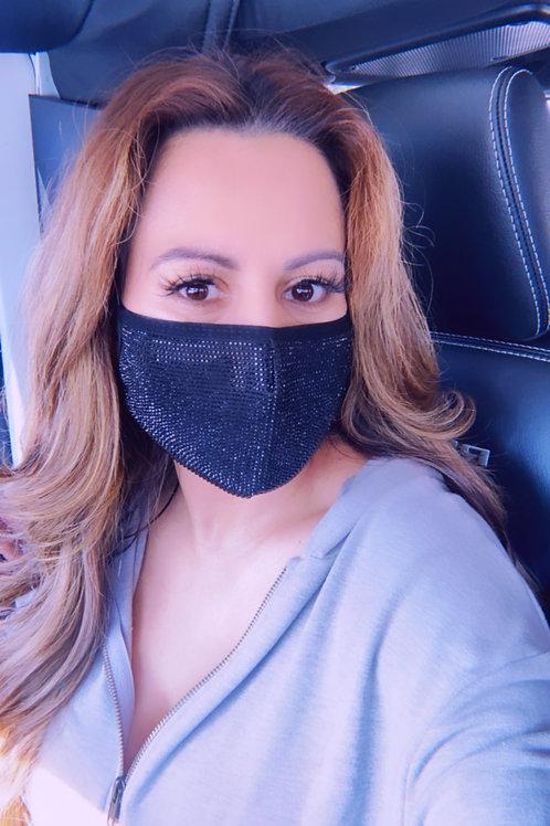 Luxe rhinestone Face Mask