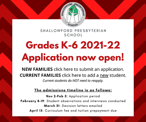 Grade School 2021-22 Application now ope