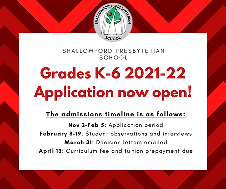 Grade School 2021-22 Application Announc