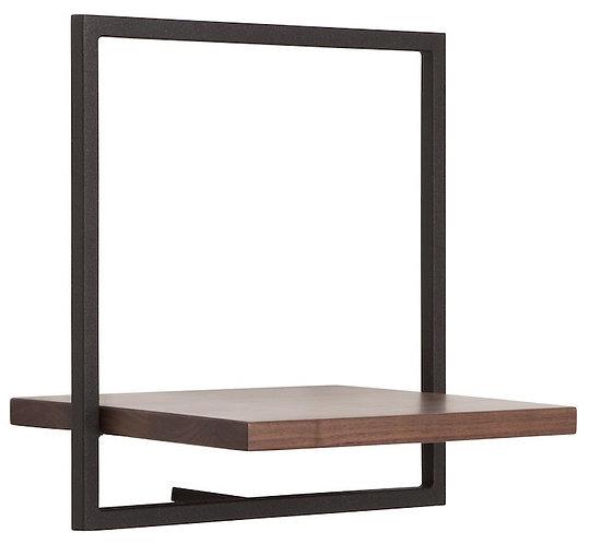 Shelfmate Walnut Black, Regal Shelfmate B, Walnussholz, schwarz, 35x35x25cm