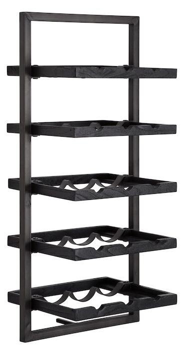 Shelfmate Black, Regal Winemate E, Zedrachholz, schwarz, 78x35x25cm