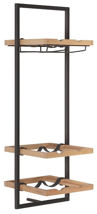 Shelfmate Oak Black, Regal Winemate D, Eichenholz, braun,75x25x25cm