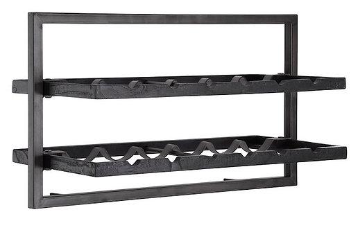 Shelfmate Black, Regal Winemate A, Zedrachholz, schwarz, 35x65x25cm
