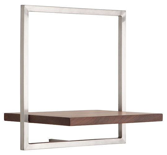 Shelfmate Walnut, Regal Shelfmate B, Walnussholz, braun, 35x35x25cm