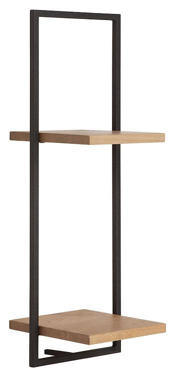 Shelfmate Oak Black, Regal Shelfmate D, Eichenholz, schwarz, 75x25x25cm