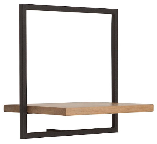 Shelfmate Oak Black, Regal Shelfmate B, Eichenholz, schwarz, 35x35x25cm
