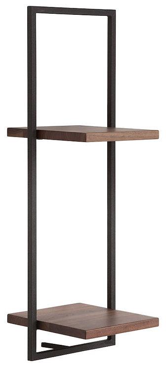 Shelfmate Walnut Black, Regal Shelfmate D Walnussholz, schwarz, 75x25x25cm