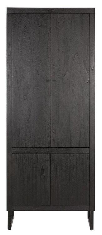 DTP Home, Schrank Night, Zedrachholz, schwarz, 4-türig, 200x80x40cm
