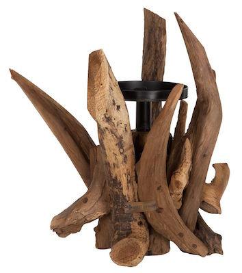 MUST LIVING, Kerzenständer Roots, Teakholz, braun, 45x30cm