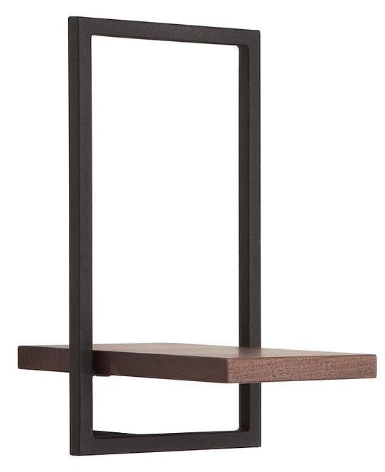 Shelfmate Walnut Black, Regal Shelfmate E, Walnussholz, schwarz, 35x20x25cm