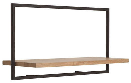 Shelfmate Oak Black, Regal Shelfmate A, Eichenholz, schwarz, 35x65x25cm
