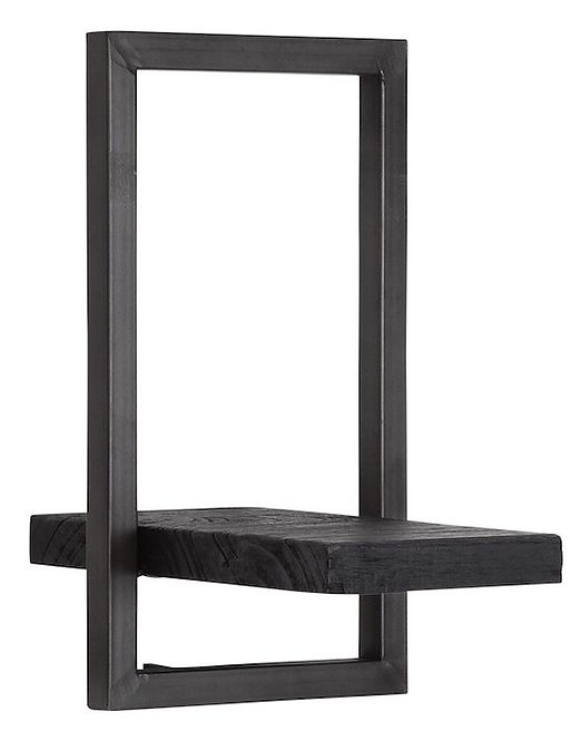 Shelfmate Black, Regal Shelfmate E, Zedrachholz, schwarz, 35x20x25cm