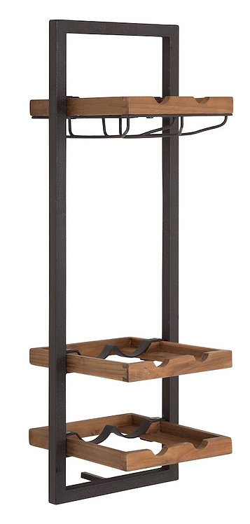 Shelfmate Natural, Regal Winemate D, recyceltes Teakholz, braun, 75x25x25cm