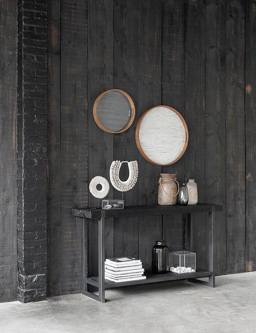 DTP Home Timeless Black, Konsolentisch Beam, recyceltes Teakholz, 78x140x40cm
