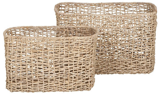 MUST LIVING, Baskets, Korb-Set Formentera, Naturfaser, 2er Set