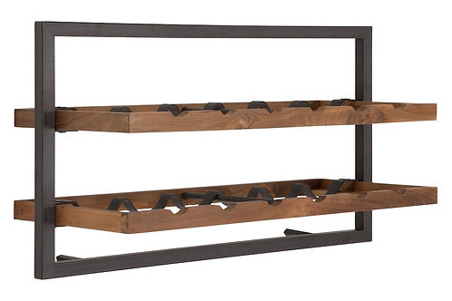 Shelfmate Natural, Regal Winemate A, recyceltes Teakholz, braun, 35x65x25cm