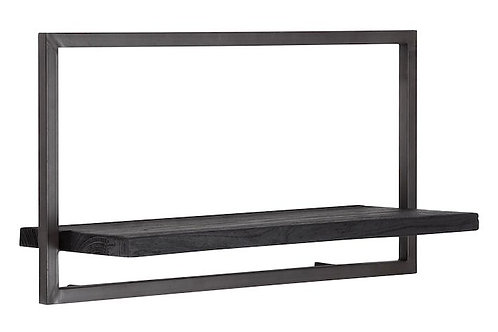 Shelfmate Black, Regal Shelfmate A, Zedrachholz, schwarz, 35x65x25cm