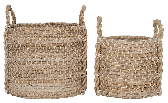 MUST LIVING, Baskets, Korb-Set Patio, Naturfaser, 2er Set