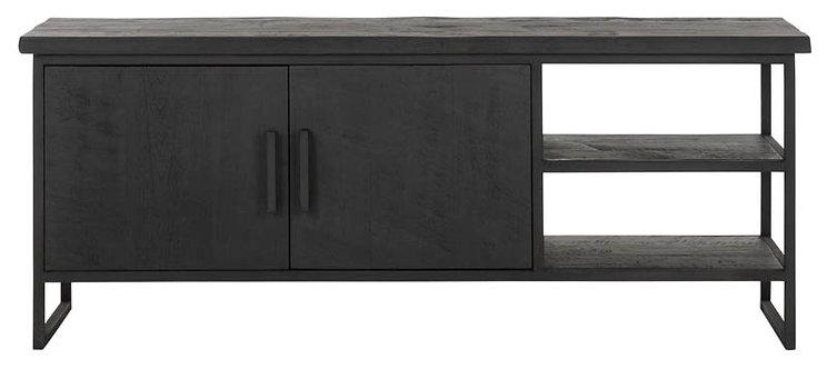 DTP Home Timeless Black, TV Regal Beam No.2, recyceltes Teakholz, schwarz